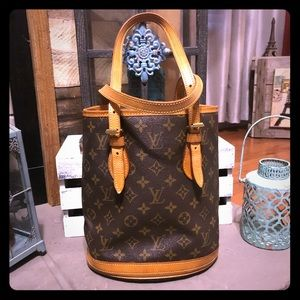 Vintage Louis Vuitton Bucket Bag PM 100% Authentic